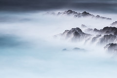 Momentum (Robert_Franz) Tags: tenerife teneriffa canaryislands fineart sea abstract longexposure minimalistic hazy rocks water blue filter nd naturallight nature spain design detail