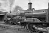 GWR on GCR metals. (photofitzp) Tags: 1450 3440 3717 gcr gwr loughborough railways shed smoke steam trains
