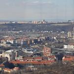 Bohnice in the distance from Žižkov TV Tower, Prague, Czech Republic thumbnail