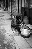 Street kitchen (Go-tea 郭天) Tags: linan hanghzou old lady woman sidewalk chair dirty food cook cooking preparation preparing bamboo shots knif pot busy alone lonely pavement table hangzhoushi zhejiangsheng chine cn street urban city outside outdoor people bw bnw black white blackwhite blackandwhite monochrome naturallight natural light asia asian china chinese canon eos 100d 24mm prime candid