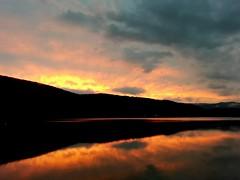 Bukovec, Slovakia (lukastasik) Tags: water reflection sunset clouds slovakia bukovec nature colors insanity