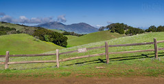 Stay On Trail (Explore #17) (mikeSF_) Tags: california morgan territory outdoor wwwmikeoriacom ebparksok ebrpd east bay fence pano panorama contra costa county hills green mount diablo mt pentax mike oria