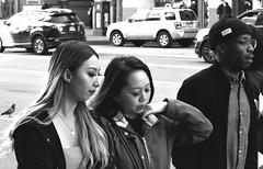3-25 Market Candid 3 (TheseusPhoto) Tags: blancoynegro monochrome noir candid city streetphotography street sanfrancisco sanfran citylife people blackandwhite girl guy walking sidewalk