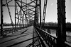 journey into the past (fallsroad) Tags: muskogeeoklahoma bridge abandoned decay rust rusty rusted old vintage damage ok16 highway arkansasriver rivets steel truss blackandwhite bw monochrome