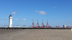 New Brighton (anthonyknowles79) Tags: newbrighton lighthouse cranes river mersey merseyside wirral