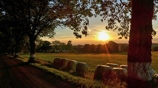 Caratteristico tramonto di Vlčetín