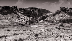 Valley of Fire-42 (Agirard) Tags: blackandwhite valleyoffire batis batis18 nevada usa rock geology bw sony a7ii landscape desert mojave sand sandstorm vintagelens contax2828 zeiss