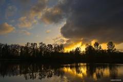 Sunset (JSB PHOTOGRAPHS) Tags: jsb3163 sunset altonbakerpark nikon d600 2870mm tokina pond eugeneoregon clouds trees autzenstadium