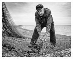 Spider (AEChown) Tags: fisherman nets mendingnets thestade hastings seashore fishermens museum monochrome mono blackandwhite bandw