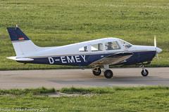 D-EMEY - 1977 build Piper PA-28-161 Cherokee Warrior II, taxiing for departure on Runway 24 at Friedrichshafen during Aero 2017 (egcc) Tags: 287716186 aero aerofriedrichshafen aerofriedrichshafen2017 bodensee cherokee demey edny fdh friedrichshafen lightroom n5612v pa28 pa28161 piper warrior