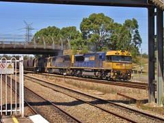 TT110, 9213 & 9315 - Sandgate - 8/2/18 (Alex's Train Channel) Tags: pacific national coal hunter valley newcastle central coast sydeny trains diesel freight goods 90 class 93 nr xrn gwa genesee wyoming railway railroad australia 2018 aurizon
