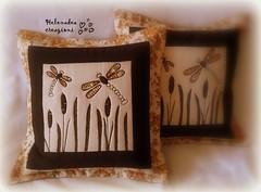"Cuscini ""Libellula"" (Helenadea) Tags: cuscino pillow cushion dragonfly cucito sewing patchwork quilting applique natura decor craft handmade creazioni libellula"