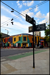 Buenos Aires (makingacross) Tags: buenos aires argentina buenosaires city la boca laboca barrio colour colourful signpost nikon d3000