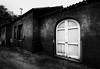 Lamy Train Station Santa Fe (mcook1517) Tags: santafe lamy train trainstation trains monochrome blackandwhite contrast architecture historic building door