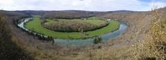 Panoramique du méandre de Fougére sur la Loue - Rurey (francky25) Tags: panoramique du méandre de fougére sur la loue rurey paysage rivière franchecomté doubs