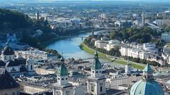 Salzburg, Altstadt and river Salzach seen from Castle Hohensalzburg [28.08.2014] (b16aug) Tags: geo:lat=4779553612 geo:lon=1304868612 geotagged altstadt austria aut salzburg