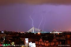 20160822-0424 (srkirad) Tags: night belgrade beograd serbia srbija bridge adabridge lightning lightnings storm stormy clouds cloudy skyline city roofs buildings