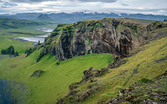 Dyrhólaey (dawvon) Tags: iceland mýrdalsjökullglacier landscape travel nature dyrhólaey nordic glacier suðurland europe cloudy mountain ice lýðveldiðísland republicoficeland southernregion ísland