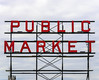 Public Market (Adaptabilly) Tags: usa washington text travel light metal sky structure sign lumixgx7 seattle clouds