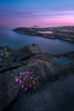 Sea pink (Ron Jansen - EyeSeeLight Photography) Tags: norway vestfold coast spring evening longexposure haida armeriamaritima pink blue seascape sea ocean water rock rocks view sunset