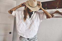 stetson days ({IP} by Amelia) Tags: self portrait tattoo west texas marfa stetson hat cowboy natural light