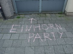 Einhornparty (mkorsakov) Tags: münster city innenstadt graffiti streetart strassenkreide chalk einhorn unicorn