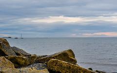 166 ~ 365 (BGDL) Tags: lightroomcc nikond7000 nikkor50mm118g bgdl landscape niftyfifty no6365~2018 firthofclyde sundown downontherocks seascape