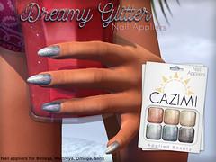 Dreamy Glitter Nails (Dima Plessis - { C A Z I M I }) Tags: cazimi sl second life nail nails polish applier appliers maitreya belleza omega slink applique glitter