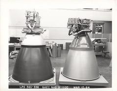 a (TM-1 LEM)_v_bw_o_n (GAEC photo, LPS 340-356, 10 MAR 64) (apollo_4ever) Tags: lmde throttlableengine grummanlunarmodule grummanlm apollospacecraft descentpropulsionsystem lunarmoduledescentengine combustionchamber enginebell rocketnozzle nozzleextension thrustchamber manonthemoon nasa rocketdyne trw trwsystems stl spacetechnologylaboratories spacerace moonshot mannedspacecraft humanspaceflight mannedspaceflight lunarspacecraft lunarlander rocketengine rocketengines gaec grummanaircraftengineeringcorporation projectapollo glossyphoto blackandwhite apolloprogram apollospaceprogram
