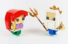 Ariel and King Triton (YOS Bricks) Tags: ariel triton brickheadz disney princess