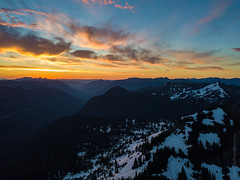 Sunrise Over Naches Peak DJI Mavic Pro (www.mikereidphotography.com) Tags: drone dji mavicpro rainier naches sunrise clouds peak