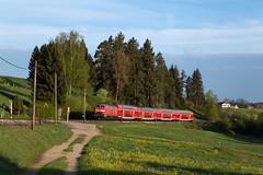 Leuterschach (Nils Wieske) Tags: bayern allgäu baureihe 218 v160 db regio bahn zug züge eisenbahn nebenbahn train railway railroad