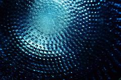 SDIM0481 (Elisabeth patchwork) Tags: blaueflasche sigmasdquattro sigma sigma105mm blue bottle glass pattern structure macro monochrome