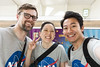 Changed into our matching NASA shirts (roboppy) Tags: japan tokyodisneyresort tokyodisneyland urayasu chiba disneyresortline train monorail selfie xiangtai kare robyn
