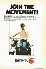 Join The Movement, 1979 (STUDIOZ7) Tags: fonz fonzie happydays abc 1970s seventies 70s motorcycle kstp tv television twincities minnesota mn laverneshirley morkmindy threescompany hubbard broadcasting channel5 henrywinkler