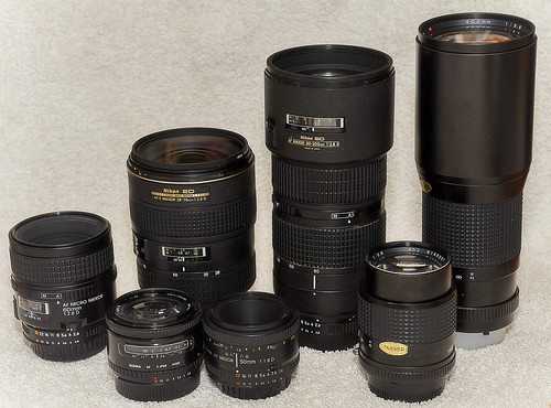 Lens collection shot with nikon 28 85 afd
