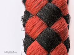 Dog leash (Antonio F. Alvarez) Tags: dog leash correa trenzado braided red black rojo negro symmetrical simetrico macro macrofotografía nikond750 sigma 105mm kenko macromondays linesymmetry