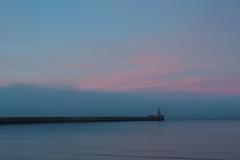 Incoming Sea Fog (MarkGeddes7) Tags: fog fret sunset roker lighthouse pier northeast seascape canon 1740mm sunderland