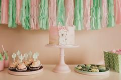 Alpaca Birthday Party (KiwiMiriam) Tags: birthday alpaca pink green fujixseries xpro2 tassles cake fondant ganache cactus cupcakes buttercream desserttable