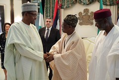 Pres. Mohammadu Buhari at the State House received Mr Zurab Pololikashvili, SG UNWTO and Zhu Shanzhong, ED UNWTO