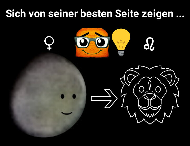 Venus betritt Löwe