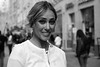The Mundial. Moscow 2018. Street portrait. (Kazemir.) Tags: leicacamera leicam240 summicronm50 moscow mundial russia streetphotography streetportrait blackandwhite woman girl