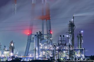 鹿島臨海工業地帯工場夜景