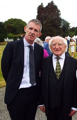 Sean with President of Ireland Michael D Higgins at Aras an Uachtarain, June 2018 (sean and nina) Tags: sean president michael d higgins irish ireland eire eireann formal gardens together joke laughing happy smile smiling outdoor outside people persons candid public suit tie tall small two garden party aras an uachtarain dublin state home residence presidential palace conversation standing stand story expression men male