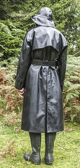 A walk in the forest (mike_in_a_mac) Tags: mackintosh raincoat rubber souwester