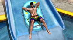 Water World (Bryan Trend) Tags: catwa daniel belleza jake stealthic hair mad tattoo lelutka omega adam signature eve genlab group gift exalted shorts the men jail event astralia gacha set decor arcade male gay pride new post blog blogger second life lgbt
