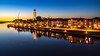 Deventer Bluehour image and quay. (Bart Ros) Tags: quay deventer city cityscape river ijssel overijssel water travel dutch nederland sky clouds traffic