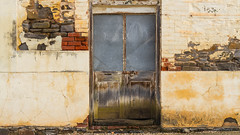 Texture overload (Trace Connolly Photography) Tags: strahalbyn ruin old southaustralia australia church mill texture door paint stone brick red pink yellow rust country textures