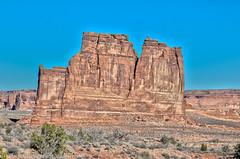 Courthouse Towers (Alaskan Dude) Tags: travel unitedstates utah moab arches archesnationalpark nationalparks landscape scenery navajosandstone hdr