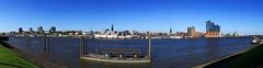Hamburg Panorama (FH | Photography) Tags: hamburg deutschland skyline tag elbe stadt capsandiego europa elbphilharmonie michel hafen hanse hansestadt gebäude architektur landungsbrücken speicherstadt wolkenlos anleger station schiffe ufer panorama
